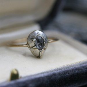 Georgian Diamond Ring with a 0.24 cts Rose Cut